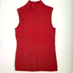 Dana Buchman mock neck sleeveless sweater